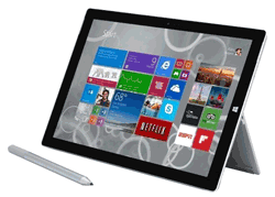 Microsoft Surface Pro 3 with screen pen