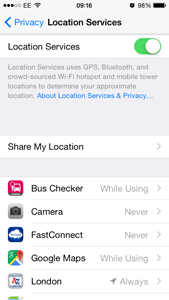 IOS 8 - Location Services