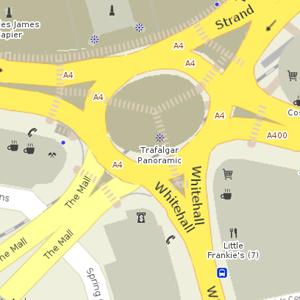 Trafalgar Square roundabout