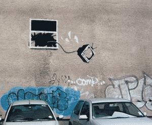 Defenestration - Banksy