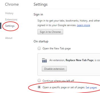Chrome Settings 2