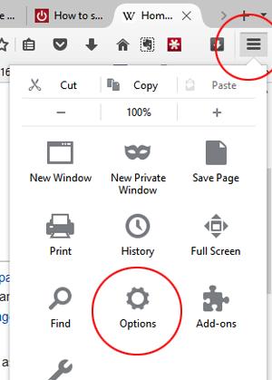 Firefox Options 1