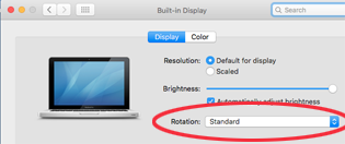 Mac Display options with rotation