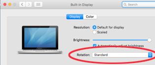 Mac Display options with rotation