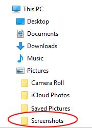 Default Screenshots Folder