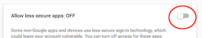 Fig 3 - allow less secure apps
