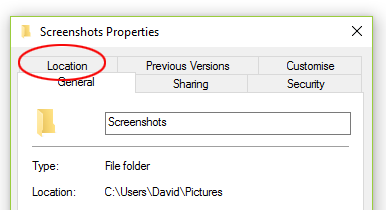 Screenshots - change location