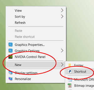 New Shortcut