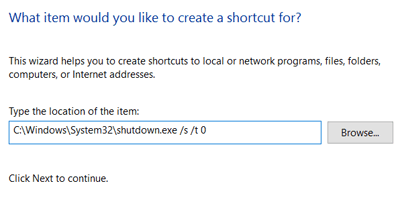Shutdown Instruction