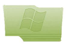 Green Windows Folder