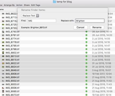 File Renaming on a Mac - Figure 1