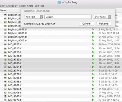 File Renaming on a Mac - Figure 3
