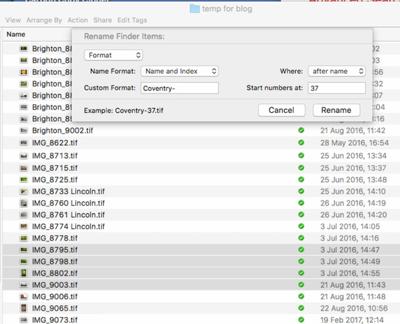 File Renaming on a Mac - Figure 5
