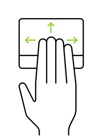 Touchpad - 4-finger gestures