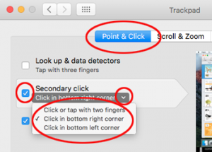 Mac - setting up a secondary click