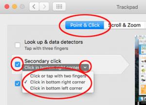 Mac - setting up a secondary click