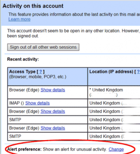 Gmail account - change Alert Preference
