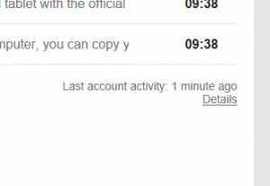 Gmail account - activity link