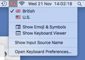 Mac - Keyboard Choice