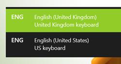 Windows 10 - Keyboard Choice