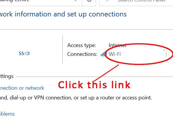 Link to Wifi connection