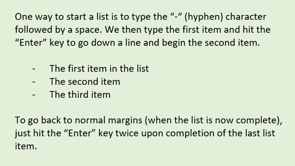 Lists - 1