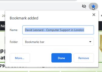 Add bookmark to Chrome